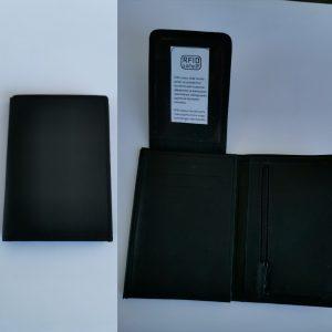 Musta keskikokoinen lompakko